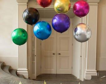 Large Round Balloon/ Round Metallic Balloon/ Glamorous Round Balloons/ Round Circle Balloons