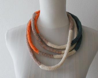 Sugar Paper / Orange Necklace