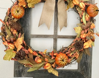 Fall Wreath ~ Rustic ~ Farmhouse ~ Thanksgiving