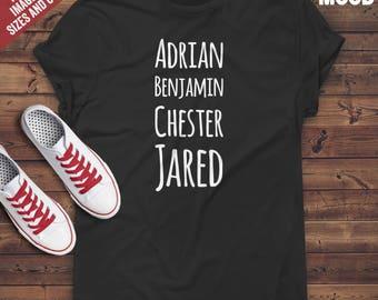 Adrian Benjamin Chester Jared t-shirt tee // hipster clothing / hipster shirt / funny t-shirts / sarcasm t-shirt / funny tee