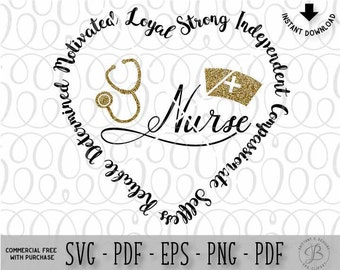 Nurse SVG / Nurse stethoscope svg / Nurse Saying svg / RN svg / Cricut svg file / Silhouette svg file