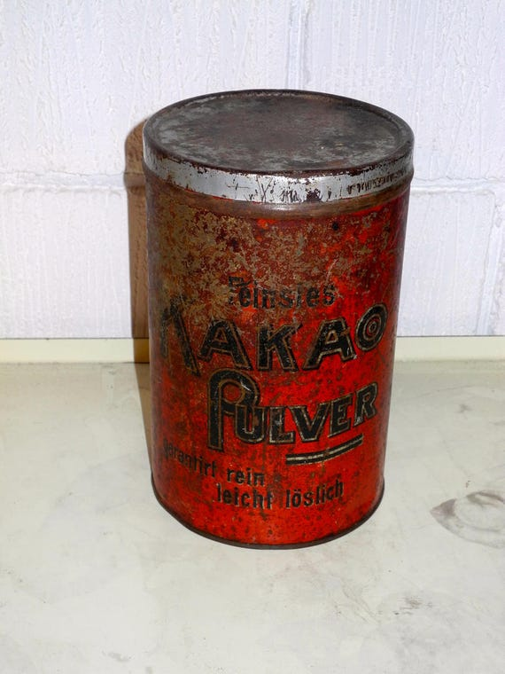 Antique German Cocoa Tin Circa 1900