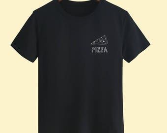 Small logo Pizza Unisex T shirt T Shirts For Men T Shirts For Women mens t shirt women t shirts design t shirt Customize Gift T Shirt