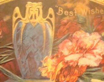 Nice Vintage Embossed Floral Postcard