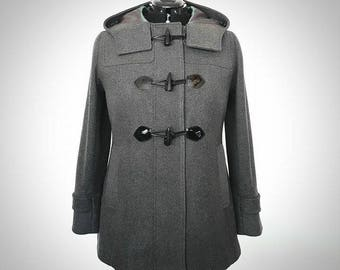 winter coat, duffle coat, grey duffle coat, cashmere coat, wool coat, custom made