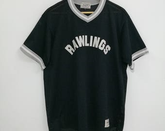 Vintage Rawlings Spell Out Logo Baseball Jersey