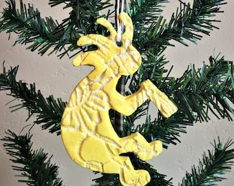 Ceramic Kokopelli Ornament or Magnet