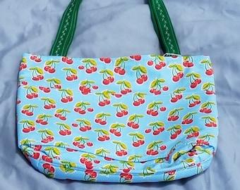 Cherry purse/ handbag/ tote bag