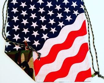 Armed Forces Reversible Drawstring Bag