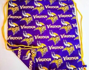 Vikings Reversible Drawstring Bag