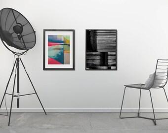 Modern Abstract Printables, Printable Abstract Art Set, Industrial Decor Set, Abstract Art Print Set, Modern Printables Wall Decor Set