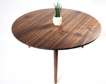 Coffee table, round table , side table, mid century modern table