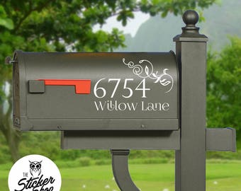 Mailbox Decal - Street Name & Number