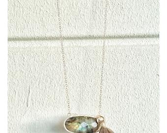 Labradorite on 14K Gold filled chain