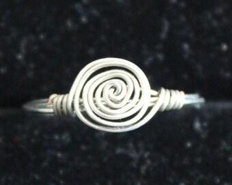 Silver Swirl Ring Size 6