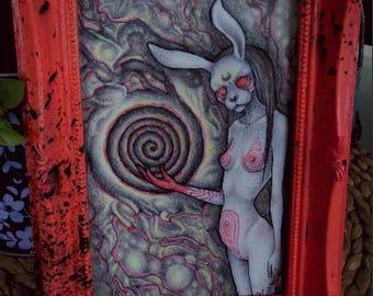 Bunny, Original drawing (10x 15 cm), framed