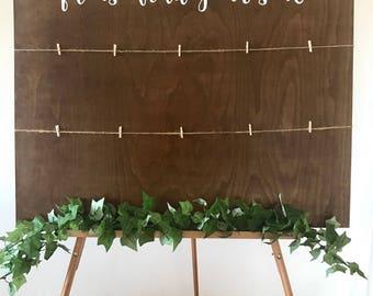 Please find your seat wooden wedding sign - landscape // 80cm x 60cm // rustic wedding // wedding decor // wedding signs // seating plan