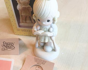 Vintage Precious Moments He Walks With Me Special 1987 Limited Edition  Figurine 107999