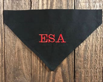 ESA Dog Bandana Over the Collar, Emotional Support Animal Dog Bandana