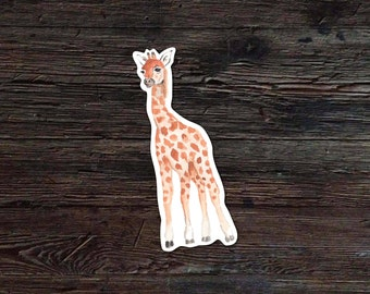 Giraffe Decal - Giraffe Vinyl Sticker - Watercolor Giraffe Decal - Car Window Decal - Laptop Sticker - Tumbler Decal