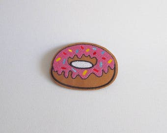 Iron on donut patch, Donut iron on patch, Kawaii patch, Cool patches for jackets, Donut applique, Doughnut sew on patch, Food patch