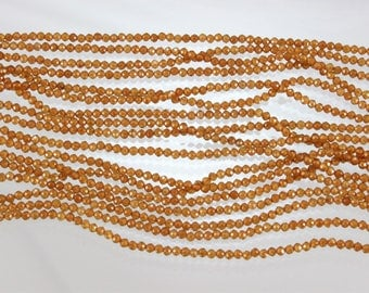 """Garnets, Hessonite, 2mm Faceted Round Beads, 13.25""""strands, Sku W11097"""