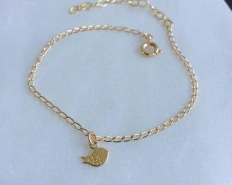 Twitter Bird Bracelet, Dainty Bracelet, Gold Filled - FREE DELIVERY*