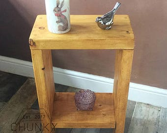 Wooden Side Table, Handmade Table, Rustic Side Table, Master Bedroom Decor, Hand picked Wood Side Table, Wooden Home Decor