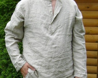Men's Linen Shirt with Long Sleeves