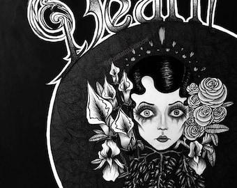 Art Nouveau 1920's Death pin up print