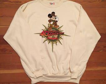 1995 Disneyland Mickey Mouse Indian Jones Pull Over Sweater
