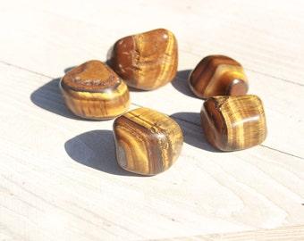 Tigers Eye Tumbled Stones|Healing Crystals|Worry Stones|Polished Stone|Pocket|Healing Stone||Reiki|Meditation|Crystal Grid