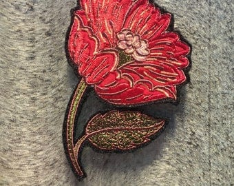 Fashion Patches, Custom Patches Embroidered, Flower Patch Embroidered, Sew on Appliques Flowers, Sew on Patches Custom, Flower Patched Jeans