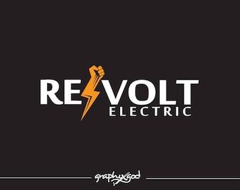 Electric Logo Design Lightning Bolt Custom Company Made