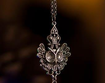 Green Swaroski Crystal Owl Necklace