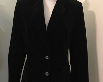 Vintage Koret Black Velvet Blazer Jacket