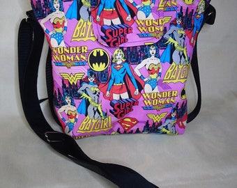 Women Superheros cross body bag.