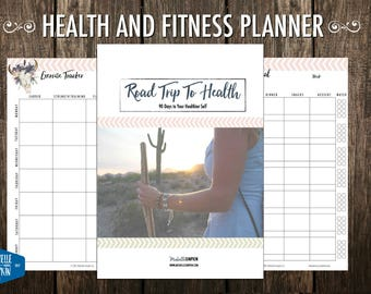 Health Planner, Fitness Planner, Wellbeing Planner, Weight Loss Planner, Boho Planner, Planners and Organizers, US Letter, A4, A5
