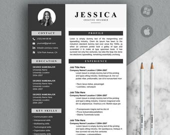 Resume Template, Resume, Modern Resume Template, Clean Resume Template, CV, Creative Resume Template Instant Download