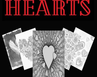 Hearts - Adult Coloring Book by Scott Shannon
