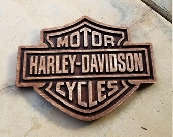 Harley Davidson Wood Carved Sign
