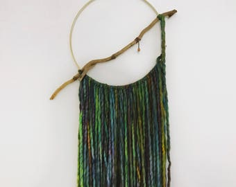 12 inch Malabrigo Rasta Yarn Dream Catcher,Bohemian Decor,Wall Decor,Gift for Her,House Warming Gift,Hippie Chic,Boho Chic, Valentines Day