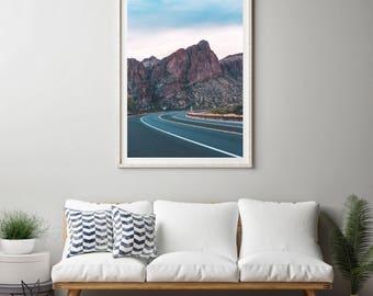 Tonto National Forest photography print. Payson, Arizona Landscape photograph. Large vertical artwork, oversized art print.
