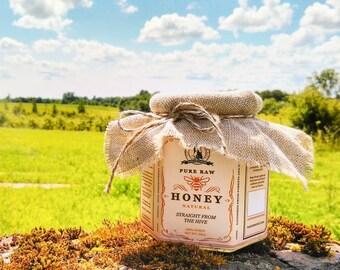 Pure Raw Honey - 100% Natural Wildflower Honey