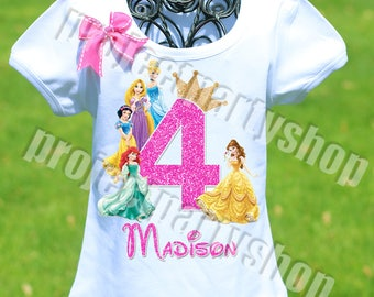 Disney Princesses Birthday Shirt