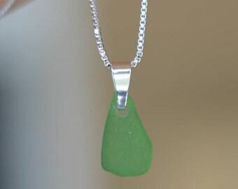Silver Seaglass Necklace