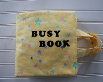 Cloth Quiet Book, Hand made Activity Book, soft cloth book