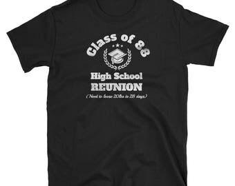 High School Reunion,class of 88,school reunion,reunion class 88,school reunion party,class of 88 party,class reunion shirt,school reunion te