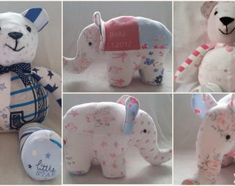 Memory keepsake bear/elephant