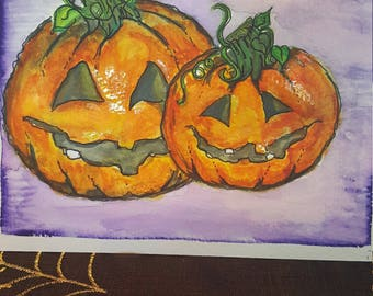Happy Jack-O-Lanterns print